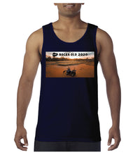 Load image into Gallery viewer, Men's Sunset Photo Singlet - Navy