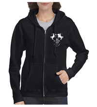 Load image into Gallery viewer, Unisex Zipped Hoodie - Black