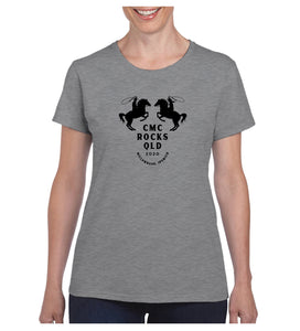 Women's Horses Shirt - Grey Marle