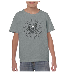 Youth Bull Starburst Shirt - Grey Marle
