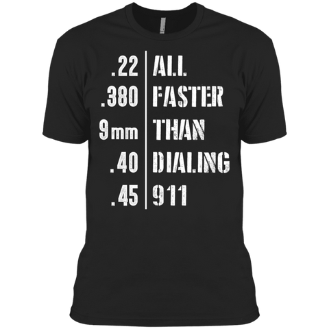 Easier Then 911  Men's Made in USA Cotton T-Shirt
