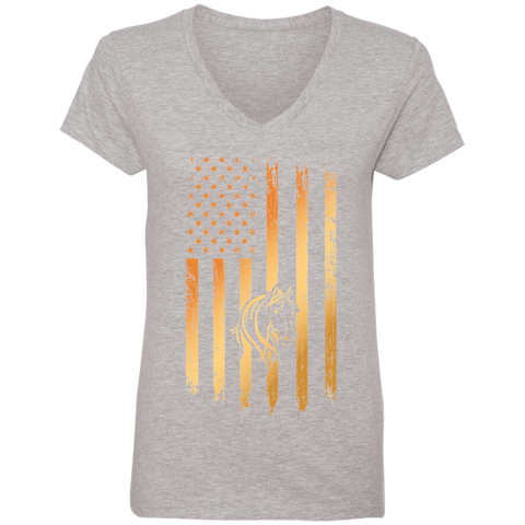 Flag Horse Ladies' V-Neck T-Shirt