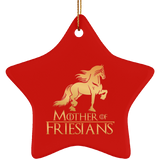 Mother Of Friesians Star Ornament