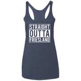 Straight Outta Friesland Ladies' Triblend Racerback Tank