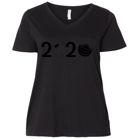 2020 Covid  Ladies' Curvy V-Neck T-Shirt