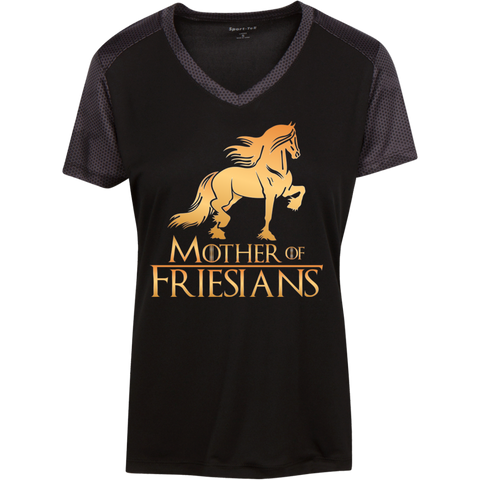 Mother Of Friesians Ladies' CamoHex Colorblock T-Shirt