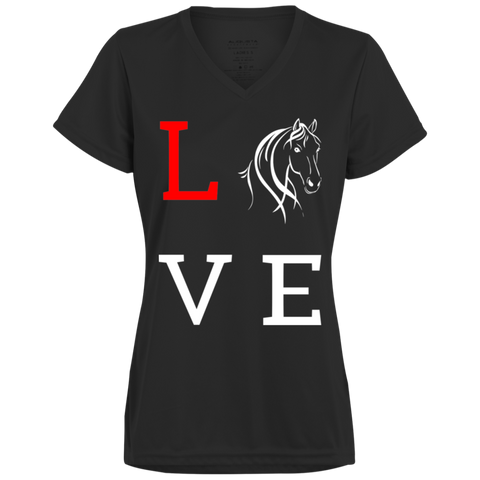Love Horses Augusta Ladies' Wicking T-Shirt