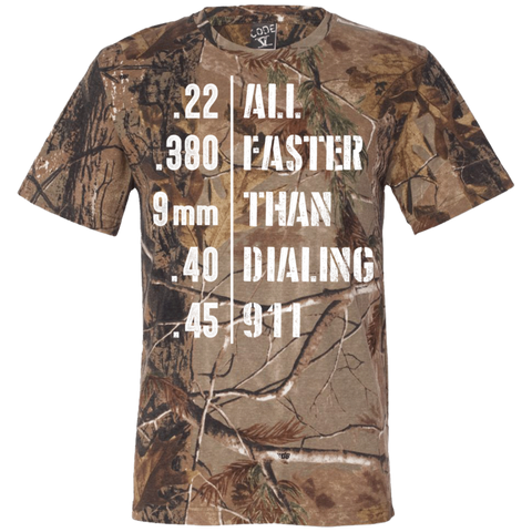 Easier Then 911 Short Sleeve Camouflage T-Shirt