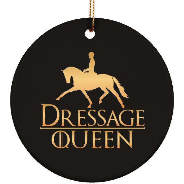 Dressage Queen Ceramic Circle Ornament