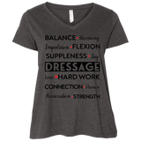 Dressage Ladies' Curvy V-Neck T-Shirt
