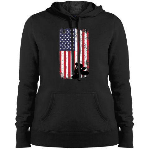 Flag ATV Ladies' Pullover Hooded Sweatshirt