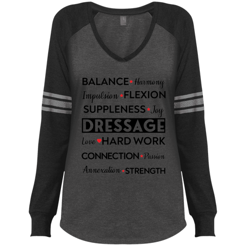 Dressage Ladies' Game LS V-Neck T-Shirt