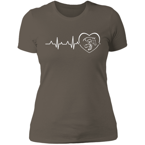 Jumping Heartbeat Ladies' Boyfriend T-Shirt