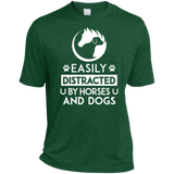 Horses & Dogs Heather Dri-Fit Moisture-Wicking T-Shirt