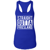 Straight Outta Friesland Ladies Ideal Racerback Tank