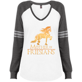 Mother Of Friesians Ladies' Game LS V-Neck T-Shirt