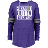Straight Outta Friesland Ladies Hooded Low Key Pullover