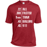 Easier Then 911 Tall Heather Dri-Fit Moisture-Wicking T-Shirt