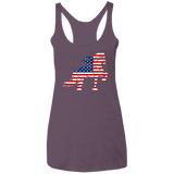 Friesian Flag Ladies' Triblend Racerback Tank