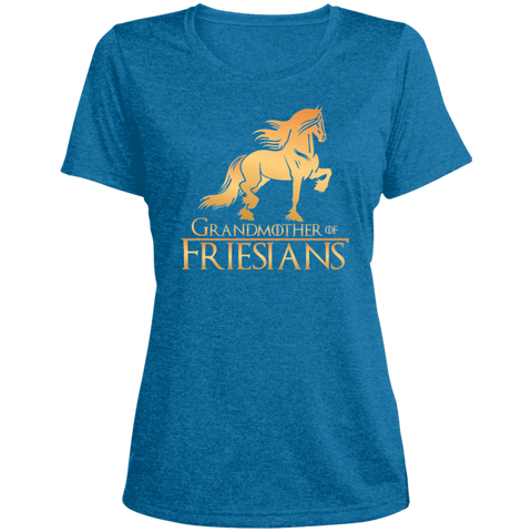 Grandmother Of Friesians Ladies' Heather Dri-Fit Moisture-Wicking T-Shirt