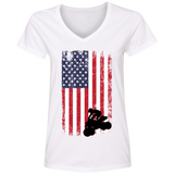 Flag ATV Ladies' V-Neck T-Shirt