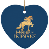 Mother Of Friesians Heart Ornament