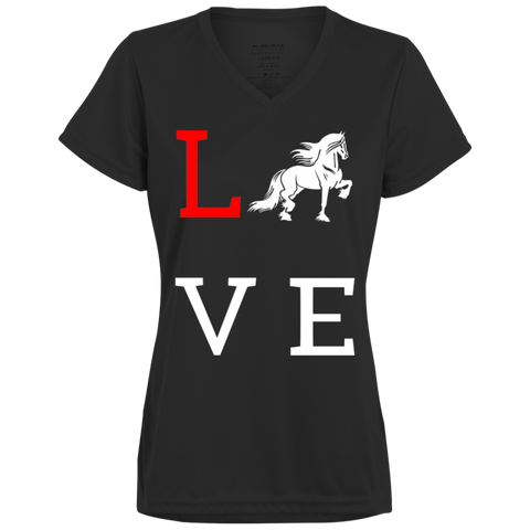 Love Friesians Ladies' Wicking T-Shirt