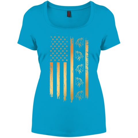 Flag Horse Women's Perfect Scoop Neck Tee