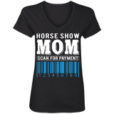 Horse Show Mom Ladies' V-Neck T-Shirt