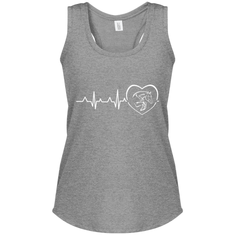 Jumping Heartbeat Women's Perfect Tri Racerback Tank