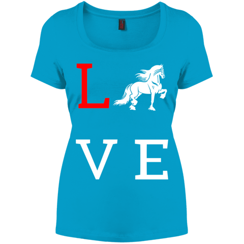 Love Friesians Perfect Scoop Neck Tee