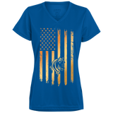 Flag Horse Ladies' Wicking T-Shirt