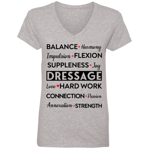 Dressage Ladies' V-Neck T-Shirt