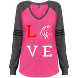 Love Horses  Ladies' Game LS V-Neck T-Shirt