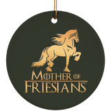 Mother Of Friesians Ceramic Circle Ornament