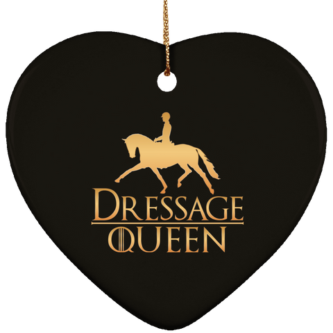 Dressage Queen Ceramic Heart Ornament