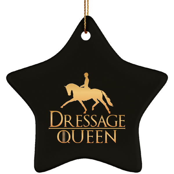Dressage Queen Ceramic Star Ornament