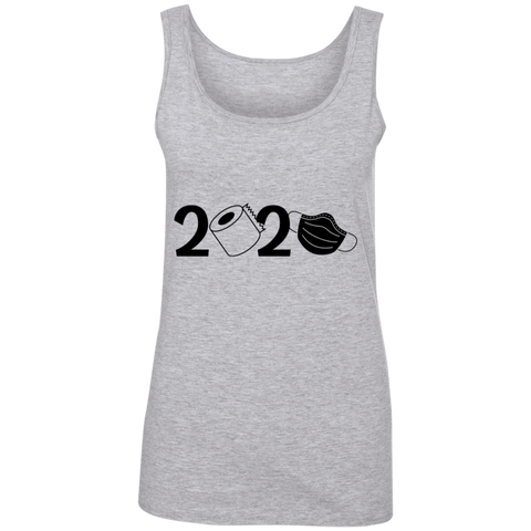 2020 Covid  Ladies' 100% Ringspun Cotton Tank Top