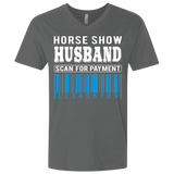 Horse Show Husband Men's Premium Fitted SS V-Neck