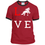 Love Friesian Port & Co. Ringer Tee