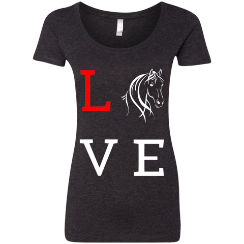 Love Horses Next Level Ladies' Triblend Scoop