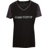 GiddyTheFUp Ladies' CamoHex Colorblock T-Shirt