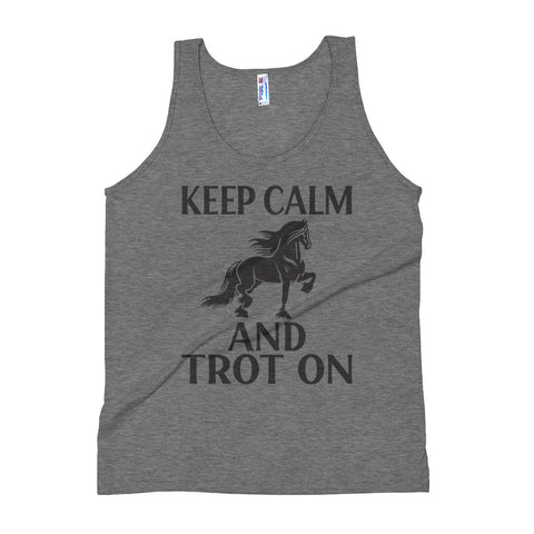 Keep Calm & Trot On Unisex Tank Top