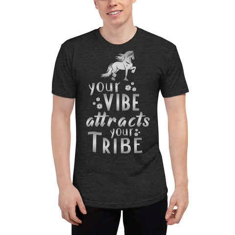 Your Vibe Attracts Your Tribe Unisex Tri-Blend Track Shirt