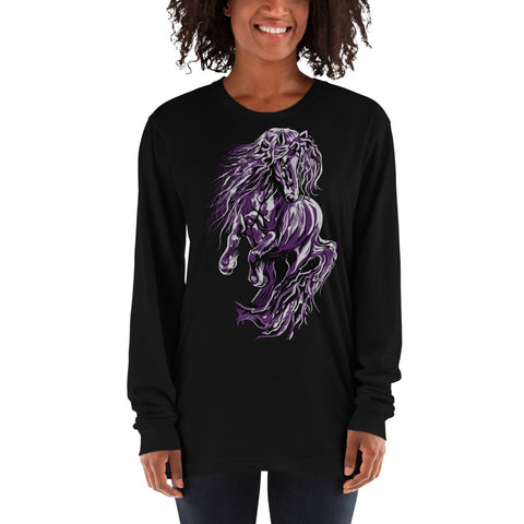 Fire & Ice Friesian Long sleeve t-shirt