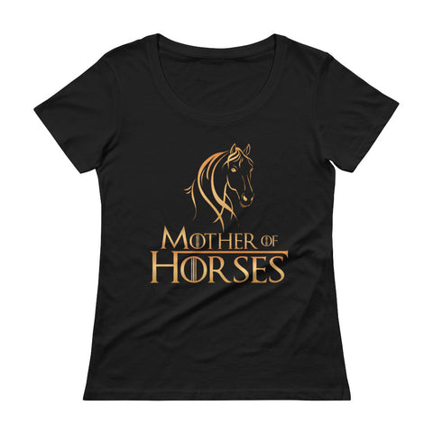 Mother Of Horses Ladies' Scoopneck T-Shirt