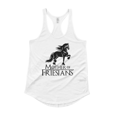 Mother Of Friesians Ladies' Shirttail Tank
