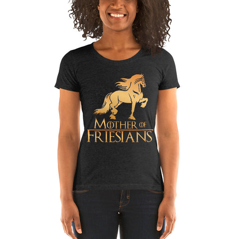 Mother Of Friesians Ladies' Short Sleeve Shirt
