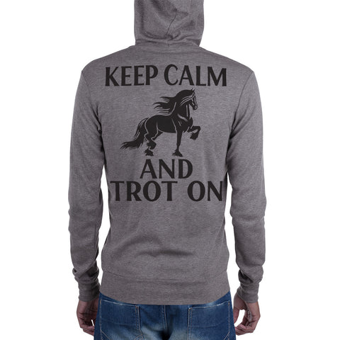 Keep Calm & Trot On Unisex zip hoodie