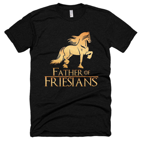 Father Of Friesians Short sleeve soft t-shirt
